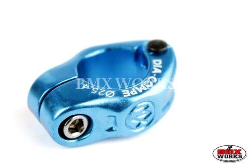Old School BMX Genuine Dia-Compe MX1500N 25.4mm Seat Clamp Bright Blue