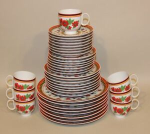 Image is loading 38-Pieces-8-Place-Settings-Heinrich-Gypsy-Dinner- & 38 Pieces 8 Place Settings Heinrich Gypsy Dinner Salad Bread Plates ...