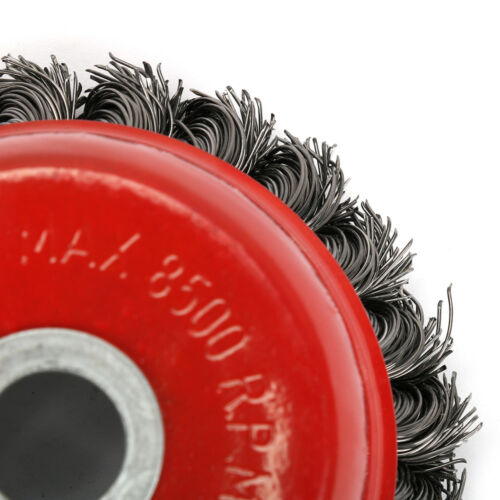 4/'/' Bore 16m Max 8500 Steel Crew Twist Knotted Wire Wheel Cup Brush For Grinder