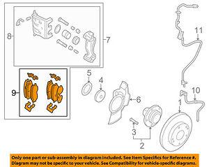 HYUNDAI OEM 10-11 Tucson Brake-Front Pads 581012SA00   eBay   Hyundai Brakes Diagram      eBay