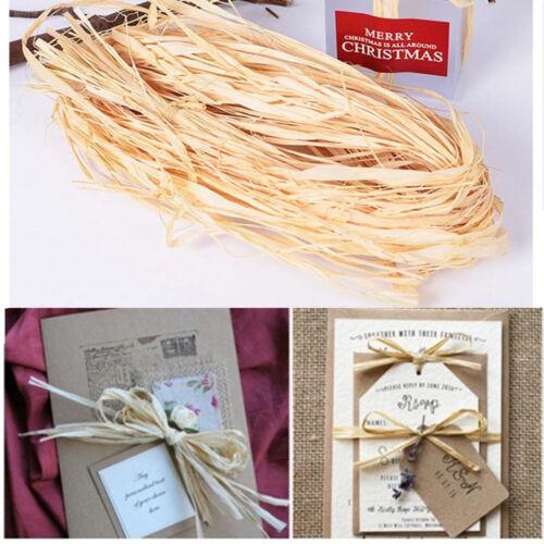 10 un.//Bag Caja de boda de embalaje envoltura de papel seco de Paja Rafia Natural Cuerda Crafts