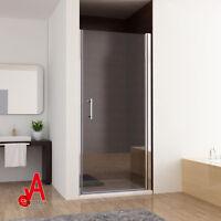 800x1900mm Frameless Bathroom Shower Screen Pivot Swing Door Wall To Wall