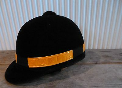 Disciplinato * Nuovo Di Zecca Arancione Hi Viz Riflettente Fluorescente Equitazione Casco Cappello Band *-
