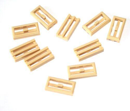 10x Lego ® Mesh-Tile//Tile 1x2 2412 NEW Beige Tan Sand