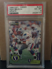 1996 COLLECTOR'S CHOICE # 93 Tedy Bruschi UPDATE RC PSA EX-MT 6..... PATRIOTS