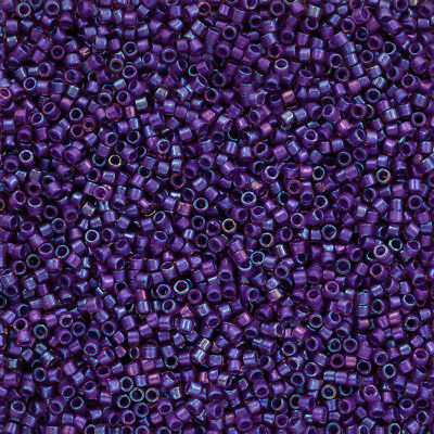 L30//7 Toho Round Size 11//0 Seed Beads Transparent Rainbow Rosaline 8.2g