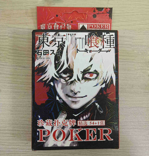Anime Tokyo Ghoul kaneki ken Deck Game Playing Cards Desk Poker With Box