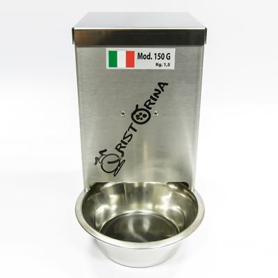 Responsabile Distributore Cibo Cani Gatti Automatico Programmabile Ristorina 150g. Mangiatoia