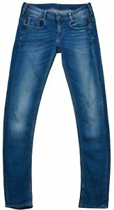 G-Star-Raw-Femmes-Pantalon-Jeans-Etroit-Coton-Bleu-Bouton-Poche-Zip-Taille