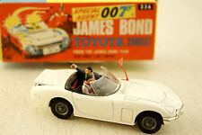 Corgi Toys Authentic James Bond Toyota 2000 GT Sports Car # 336 With 2 Figures