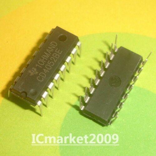 20 PCS CD4052BE DIP-16 CD4052 CMOS Analog Multiplexers//Demultiplexers