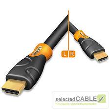 HICON Ergonomico 1,5m HDMI 1.4 High Speed + Cavo Ethernet 3D 4 K HIE-HDHD-0150