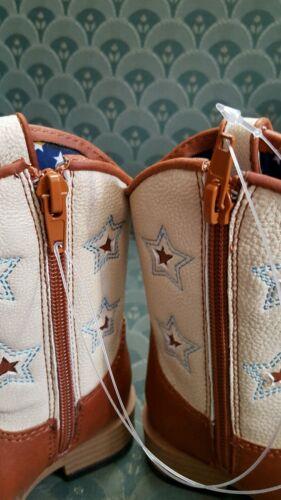 Blazin Roxx Western Boots Boys size 8 Cowboy Kids Leather Zip brown 4411402