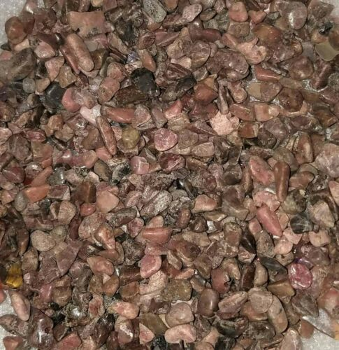 Rhodonite Gemstone Chips Nuggets No Hole Undrilled For Bottles Jewelry Gem