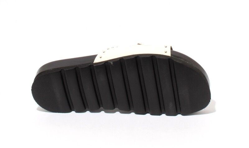Mally Mally Mally 6201b bianca Leather Studded Platform Slides Sandals 37   US 7 b73968