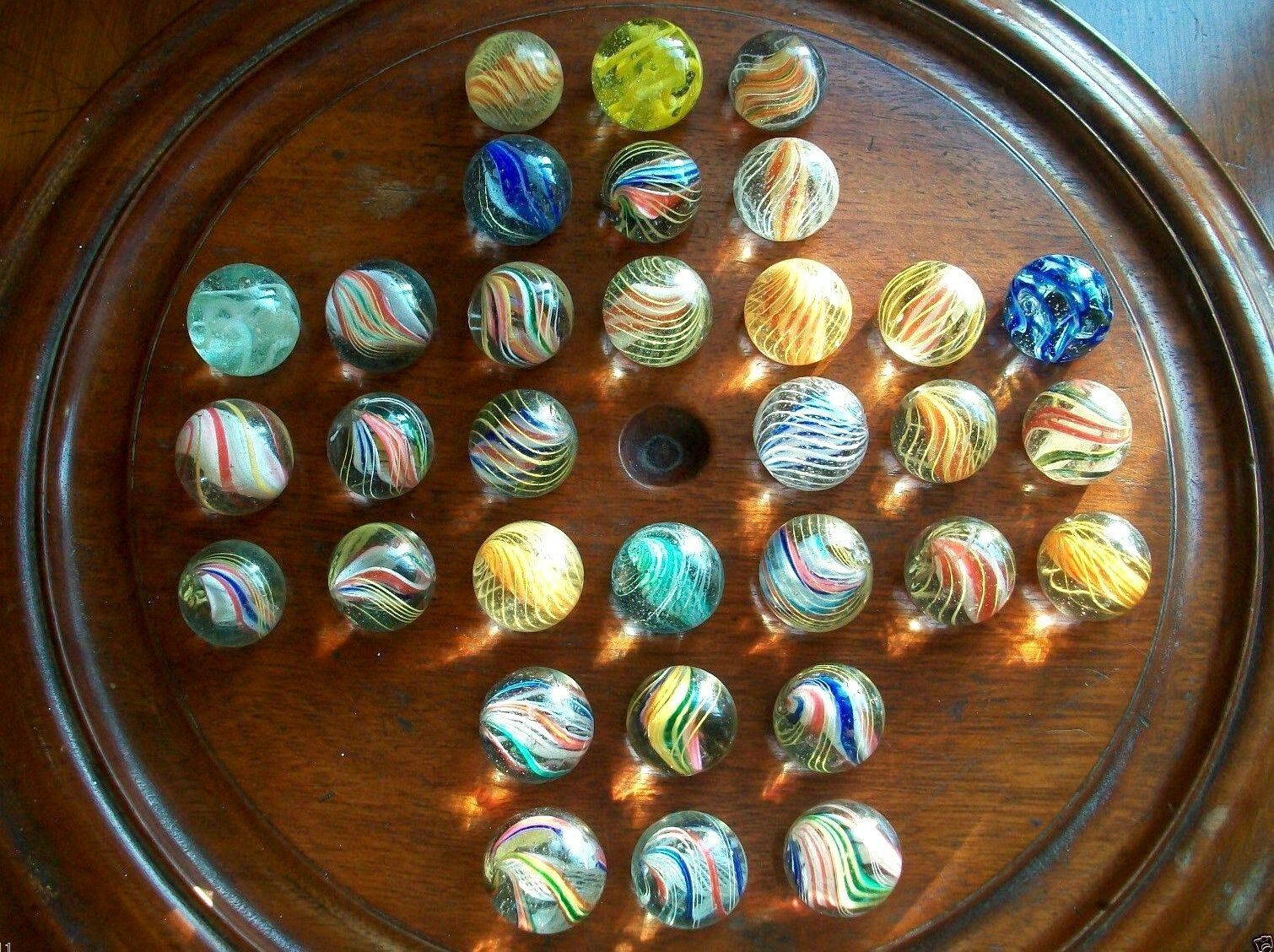 Colección Raro Antiguo Vintage Coleccionable Hecho a mano Glass Marbles