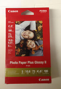 Canon-PIXMA-Photo-Paper-Plus-Glossy-II-Inkjet-Paper-4x6-100-Sheet-Pack-MPP201
