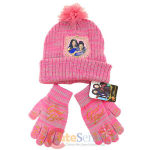 uk availability 2193c 6bcb8 Image is loading Disney-Descendants-Gloves-Beanie-Hat-2pc-Set-Descendants-