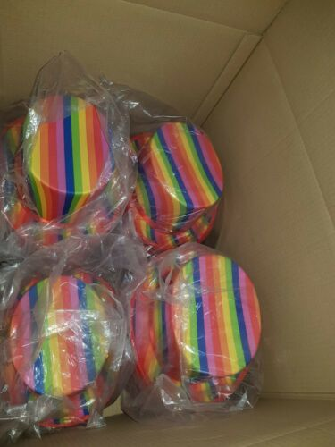 BULK BUY 41 Multicoloured Rainbow Striped Topper Top Hat Gay Pride Festival LGBT