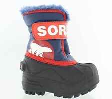 Sorel Snow Winter Commander Winter Boots Blue Sail Red Toddler Size 4 M US