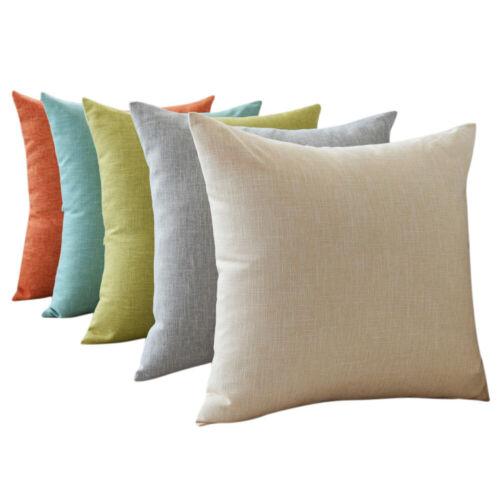 Cushion Cover Large Size Pillowcase Office Home Décor Linen Cotton Pillow Case