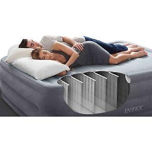 intex 22 durabeam airbed sleeping mattress w built in pump guest air bed full ebay. Black Bedroom Furniture Sets. Home Design Ideas