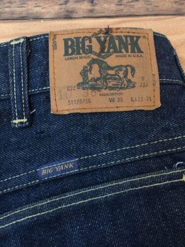 38w 33l Yank Big Vtg Jeans droit Usa Sanforized gBUnwHAq