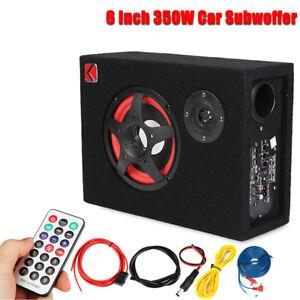 6-034-350W-Under-Seat-Car-Audio-Subwoofer-Powered-Speaker-Enlosure-Stereo-Woofer