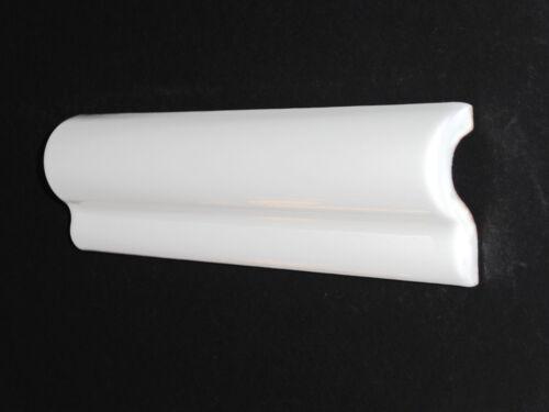 Fliesen Bordüren 20x5 cm Bordüre Wulstbordüren London Lord blanco weiss glänzend