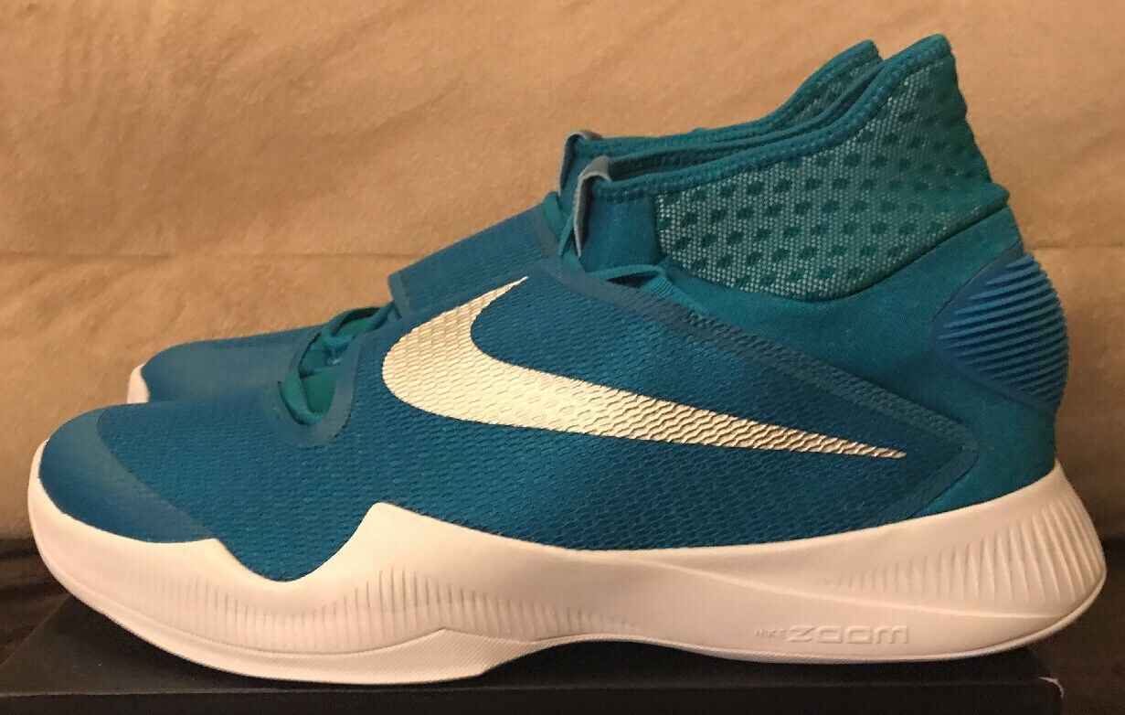 Nike Zoom Hyperrev 2018 TB Basketball Shoes Teal/White - Comfortable