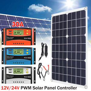 50w Solar Panel Battery Regulator Charger 30a Pwm Solar Controller Ebay