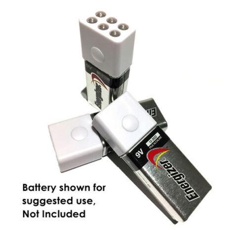LED Flashlight 4 Pack snaps on 9V Battery small durable Push Button GIFT IDEA