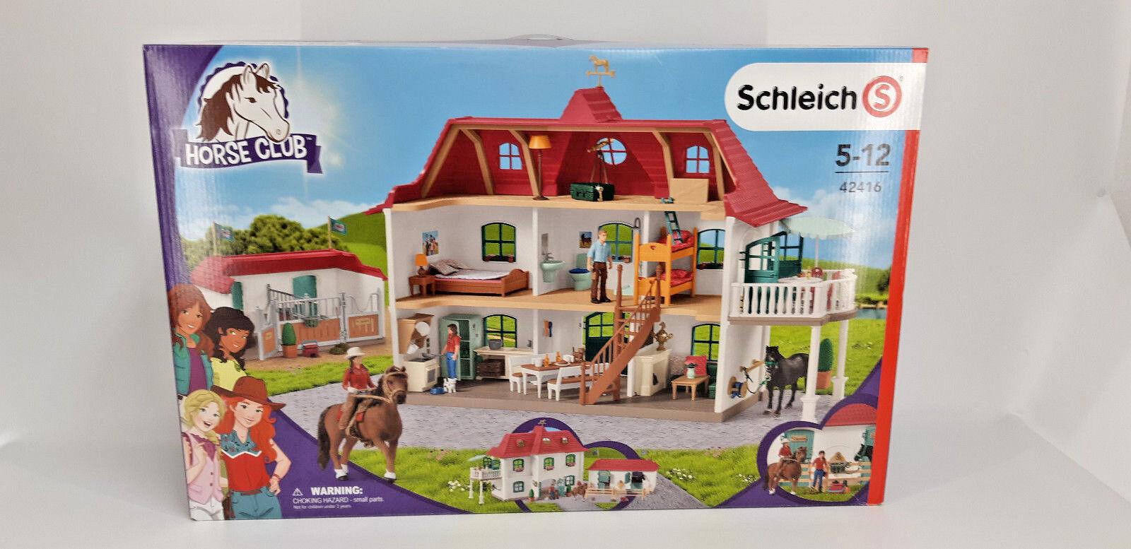 SCHLEICH 42416 Horse Club: Großer Pferdehof mit Wohnhaus und Stall