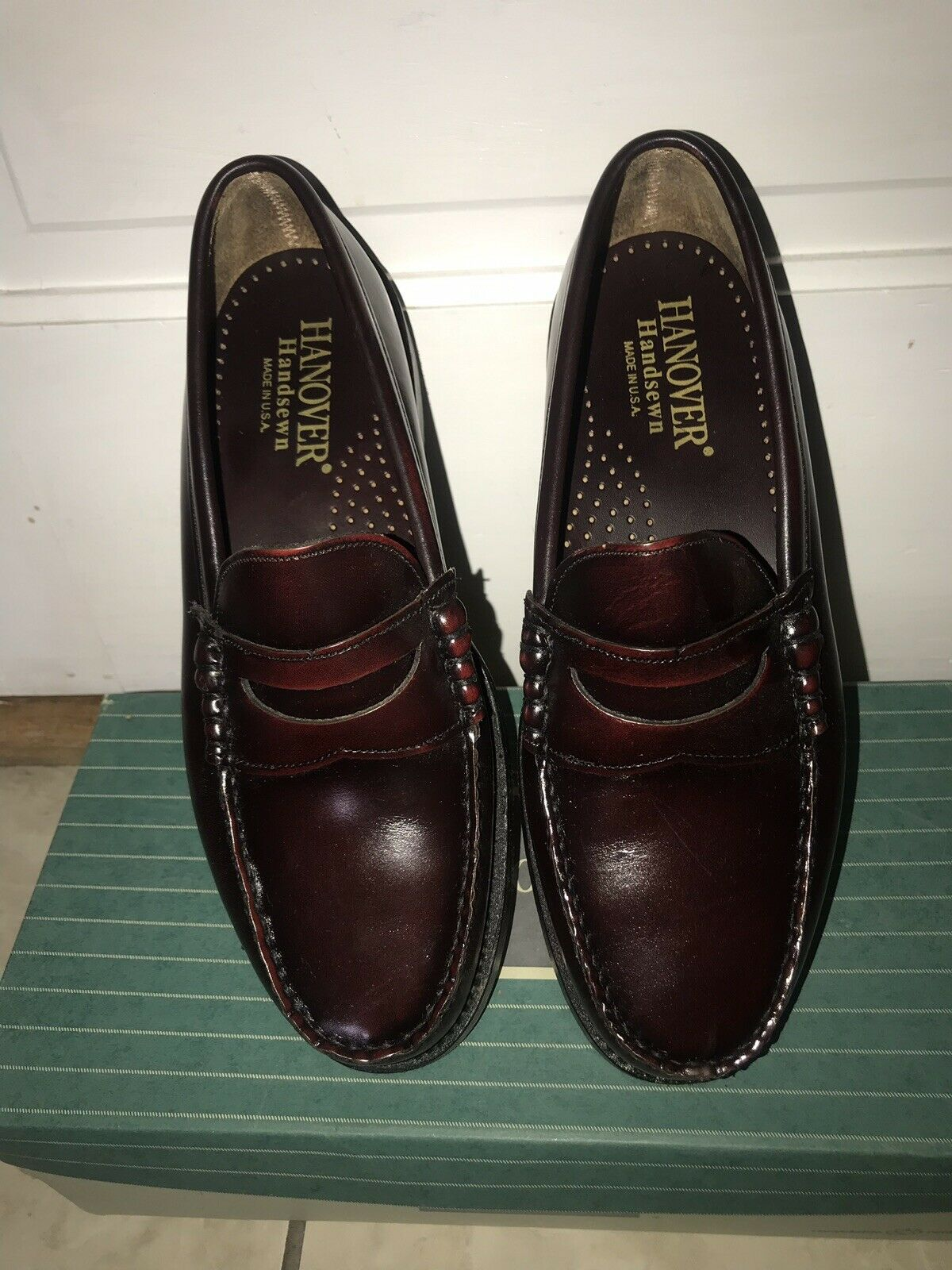 Hanover lisse vache HS Tassel Cuir Hommes Chaussures 8.5 D Made in USA