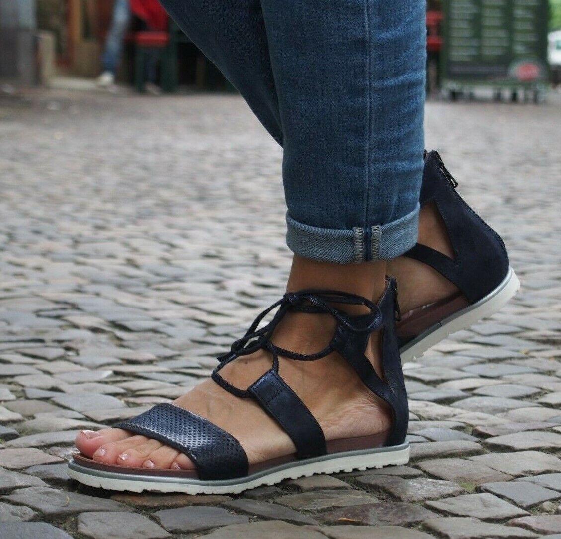 MJUS Schuhe TITLE-LICIA space dunkelblau 255067 Echtleder Damensandalen Sandalen