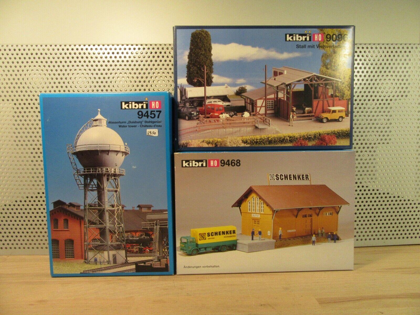 Kibri H0 H0 H0 9468 9096 9457 Stall Wasserturm Güterschuppen Bausatz Neu in OVP BS19 c7b483
