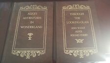 Alice in wonderland & Alice through the looking Glass vintage books 1988