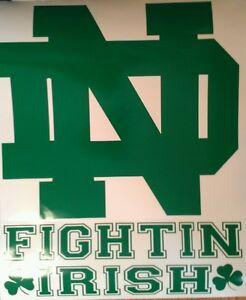 Notre Dame Irish Cornhole Board Wraps Skins Vinyl Laminated HIGH QUALITY!