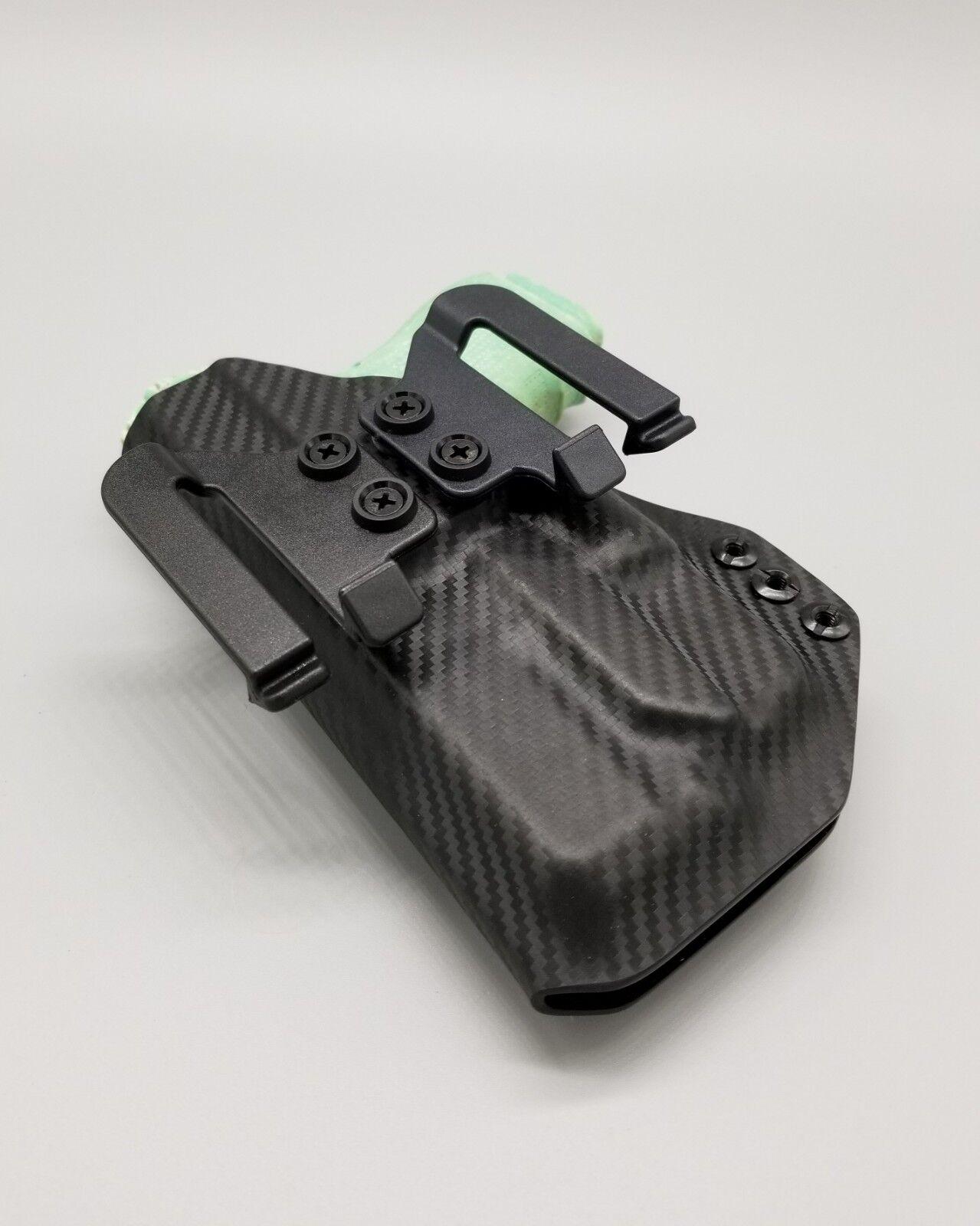 Kimber Micro 380 con TLR6-Negro de fibra de carbono funda Kydek owb con clips de velocidad
