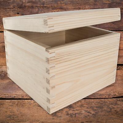 12.5 L boîte en bois avec couvercle boîte de rangement coffre à jouets