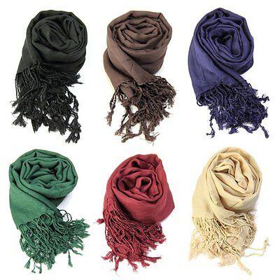 Womens Ladies Viscose Neck Scarf Plain Vogue Shawl Hijab Wrap Top Hot  J75