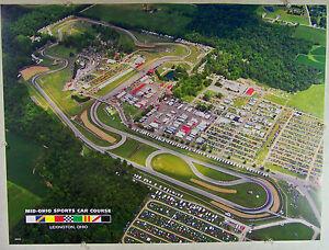 Mid Ohio Sportscar Course >> Details About 2010 Arial Photograph Of Mid Ohio Sports Car Course 18 X 24 Poster Bonus