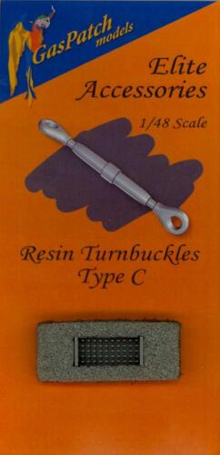 GasPatch Models 1//48 RESIN TURNBUCKLES TYPE C 50 Pieces