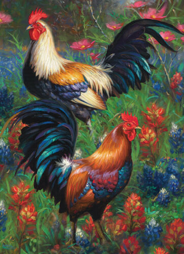 COBBLE HILL 1000 Piece Jigsaw Puzzle ROOSTERS Random Pieces BRAND NEW