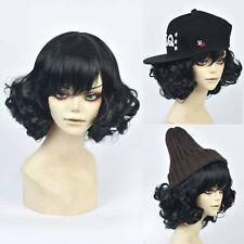 Lolita Japanese Harajuku Short Curly Cosplay Black Short Full Hair Girl's Wig
