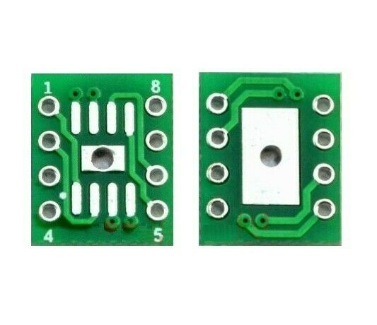 10 PCS SOP8 SO8 SOIC8 SMD zu DIP8 Adapter PCB Board Convertor Double Sides DL