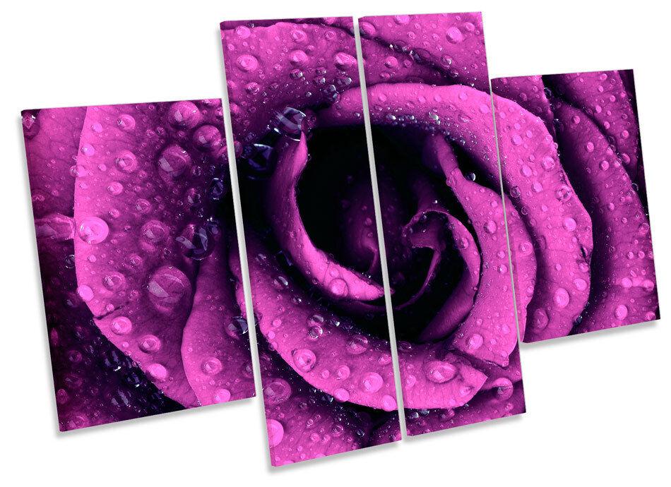 Amor Floral Rosa Flor de LONA pared arte Foto impresión de Flor panel de múltiples 10d151