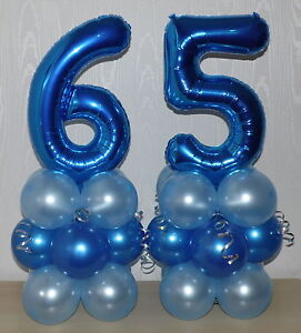 Image Is Loading 65th BIRTHDAY AGE 65 MALE PARTY FOIL BALLOON