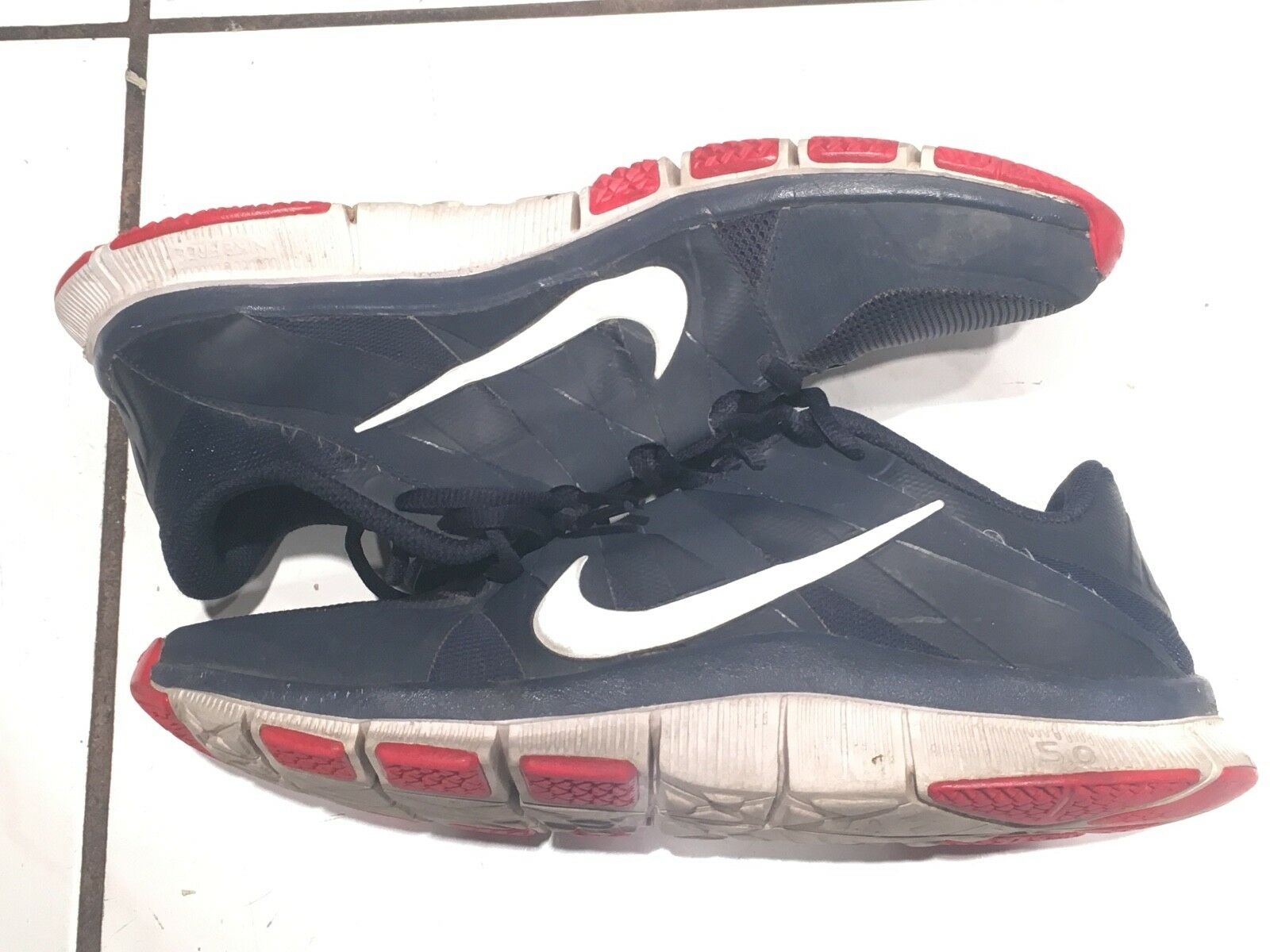 Nike Mens Free Run Trainer 5.0 Navy Blue, Red, and White 10 Price reduction The latest discount shoes for men and women
