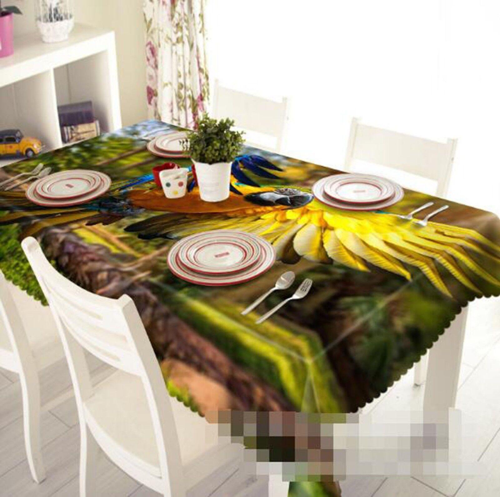 3D Animal Parrouge 057 Tablecloth Table Cover Cloth Birthday Party Event AJ Lemon
